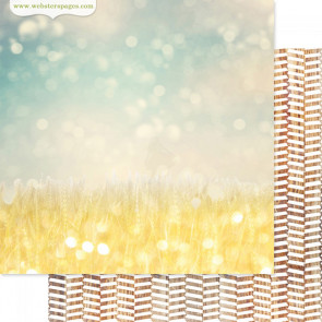 """Webster's Pages Strawberry Fields Double-Sided Cardstock 12x12"""" - Field Of Gold"""