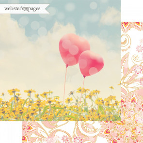 "Webster's Pages Dream In Color Double-Sided Cardstock 12x12"" - A Great Pair"