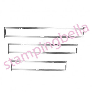 "Stamping Bella Unmounted Rubber Stamp 6.75""x4.5"" - Journal Strips"