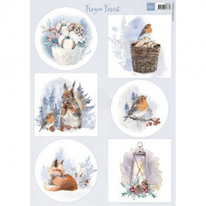 Marianne Design A4 Ark Frozen Forest