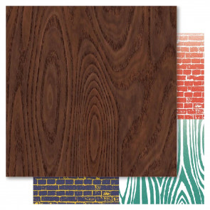 "Bella Father Double-Sided Cardstock 12x12"" - Woodgrain"