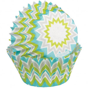 Wilton Mini Bageforme 100 stk - Lime Chevron