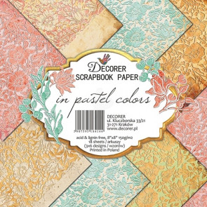 "Decorer Papir 8x8"" - In Pastel Colors TASTER"