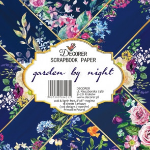 "Decorer Papir Pakke 8x8"" - Garden By Night TASTER"