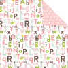 "Echo Park Bundle Of Joy/A New Addition Dobbeltsidet Cardstock 12x12"" - Baby Girl, Alphabet Antics"