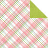 "Echo Park Bundle Of Joy/A New Addition Dobbeltsidet Cardstock 12x12"" - Baby Girl, Plaid"