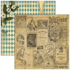 "Marion Smith Design Junque Gypsy Double Sided Cardstock 12x12"" - Carte Blanche"