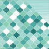 "KaiserCraft Sea Breeze Double-Sided Cardstock 12x12"" Waterfall"