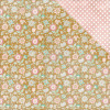 "Authentique Imagine Double-Sided Cardstock 12x12"" #7 Floral On Gold Dot/White Dot Pink"
