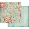 "Stamperia Double-Sided Cardstock 12x12"" Liberty Flowers"