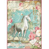 Stamperia Rice Paper Sheet A4 Wonderland Unicorn