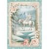 Stamperia Rice Paper Sheet A4 Unicorn