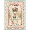 Stamperia Rice Paper Sheet A4 Pink Christmas Kitten