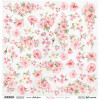 """ScrapAndMe Paper Ark 12x12"""" Rosy Days Flowers Cut Out Sheet"""