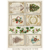 LemonCraft A4 Scrapbooking Paper, Christmas Carols, Vintage Time 013