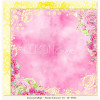 "LemonCraft Double Sided 12x12"" Scrapbooking Paper - Fresh Summer 05"