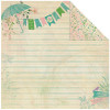 "Authentique Seasons Spring Dobbeltsidet Cardstock 12x12"" - Spring 1 - Writing Paper/Mini Floral"
