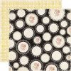 """Echo Park For The Record 2 Tailored Dobbelsidet Cardstock 12x12"""" - Scattered Doilies"""