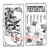 "Deep Red Cling Stamp Set 3x2,75"" - Holiday Tickets"