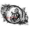 Deep Red Cling Stamp Set - Vintage Santa