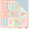 "ScrapBerry's Sweet Moments Double-Sided Cardstock 12x12"" Dress-Up Girl"