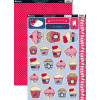 Kanban A4 Paper Craft Toppers - Celebration Cupcakes & Cool Britannia Polka Red Background Card