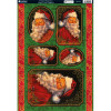 Kanban A4 Paper Craft Toppers - Father Christmas
