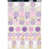 Kanban A4 Paper Craft Toppers - Lavender Rose Buttons