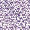 "Kanban Crystal Collection Glittered Acetate 12x12"" - Ornate Flourish Purple"