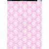 A4 Kanban Background Card - Italiano Vintage Damask Pink