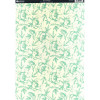 Kanban A4 Background Card - Teal Floral
