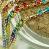2,7mm Rhinestone Crystal Cup Chain - Colorful Gold