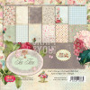 "Craft & You Design Tea Time Dobbeltsidet Cardstock 6x6"" TASTER"