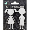 Little Birdie Boy & Girl 2pc Chipboard