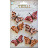 Little Birdie Beaded Butterflies Rustic Blush 6pcs Vintaj