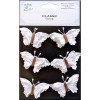 Little Birdie Beaded Butterflies Elements - White