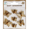 Little Birdie Beaded Butterflies Mini 7pcs Kraft Expressions
