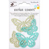Little Birdie Laser Cut Butterflies Pacific Blue 4pcs Boutique