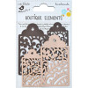 Little Birdie Laser Cut Tags Clay Caramel 4pcs Boutique Elements