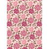 Kanban A4 Background Card - Floral Pink