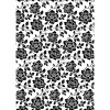 Kanban A4 Background Card - Floral Black