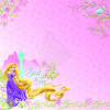 "EK Success Disney 12x12"" Glitter Papir - Princess Rapunzel"