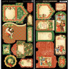 "Graphic 45 St Nicholas Cardstock Die-Cuts 6x12"" Sheets 2/Pkg - Tags & Pockets"