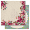 "Ruby Rock-It Heritage Dobbeltsidet Cardstock 12x12"" - Country Garden"