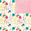 "Echo Park Here & Now Dobbelsidet Cardstock 12x12"" - Flower Patch"