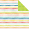 "Echo Park Perfect Summer Double-Sided Cardstock 12x12"" - Chevron Lines"