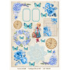 LemonCraft A4 One-Sided Scrapbooking Paper - Vintage Time 007