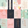 "KaiserCraft Daydreamer Foiled Cardstock 12x12"" - Happy Moments W/Rose Gold"