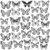 "KaiserCraft Romantique Acetate 12x12"" Butterflies"