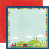 "Echo Park Scoot Dobbeltsidet Cardstock 12x12"" - Trains"